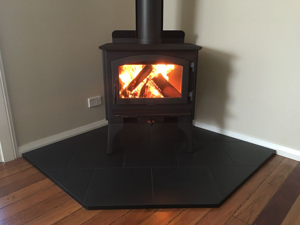Lopi Republic 1250 Wood Heater With Corner Hearth Orlik
