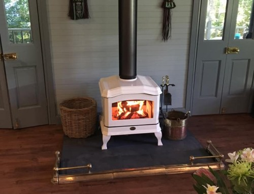 Kemlan C24 White Enamel Heater Installed in Leura