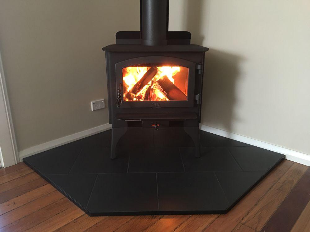 Lopi Republic 1250 Wood Heater With Corner Hearth Orlik