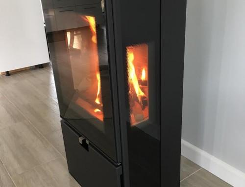 Lopi Republic 1750 With A Custom Hearth Orlik Heating